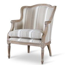 Baxton Studio Charlemagne Traditional French Arm Chair