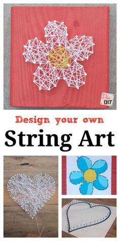 This Easy Valentine's Day Craft DIY string art tutorial is fun for adults and children alike! Create a Valentine's Day Craft or everyday craft for kids! (Valentins Day Art)