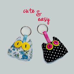 family, faith, friends,photography, and fun Easy Sewing Projects, Crafty Projects, Sewing Crafts, Crafts For Girls, Gifts For Kids, Diy Keychain, Clothes Crafts, Key Fobs, Cute Crafts