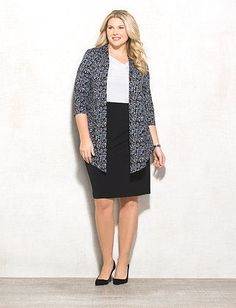Plus Size Geometric Jacket Dress