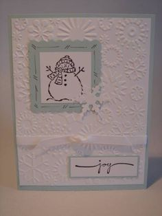 Stampin' Up Tags & More, Small Script,  Cuttlebug E F Paper: Soft Sky, Whisper White Ink: jet black stazon
