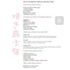 Have you checked out our #RestaurantWeek menu yet? Here is it! Only one week left! Book now on opentable :) #eatdrinksing #ccdrw #philly #Phillyeats #sushi #lambchops #yakitori #skewers #sashimi #mochi #tempura #icecream #tuna #tataki #yellowtail #japanesefood #sushi #sushiroll #chileanseabass by yakitoriboyjapas