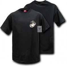 11df68b2 RapDom Marines Globe & Anchor Basic Military Mens Tee [Black - L]