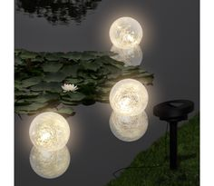 Solar Bowl 3 LED Floating Ball Light for Pond Swimming Pool