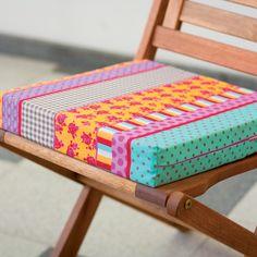 Como hacer cojines para sillas aprender manualidades es facilisimo costura pinterest - Faldones para sillas ...
