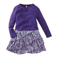 "Such a fun way to show ""purple pride"" all day long.....this tea dress is so fun on its own but also looks great with the foil henley layered over it....."