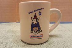 BUD LIGHT Spuds MacKenzie Coffee Mug 1986 ANHEUSER - BUSCH Collectors Coffee Cup