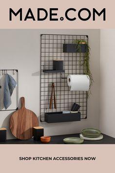 Shop Storage, Bed Storage, Storage Spaces, Storage Ideas, Wall Mounted Kitchen Storage, Small Bathroom Storage, Ikea Kitchen Storage, Kitchen Decor, Bathroom Organization