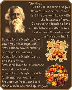 Image detail for -By Rabindranath Tagore, India's First Nobel Prize Winner, In 1913 ...