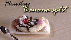 Miniature Banana Split -  Tutorial / Ésta chica es súper talentosa, es mi sensei de la arcilla polimérica jeje :: This girl is my Polymer Clay Sensei :)