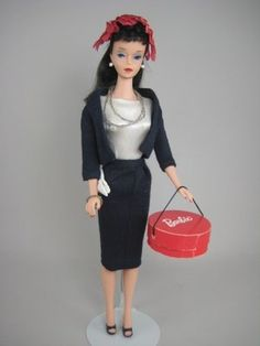 The Barbie that started my obsession. #4 Brunette Ponytail Barbie.  $3.00 then, about $500.00 now. Wish I still had her.