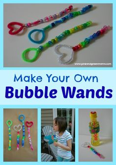 Make your own Bubble Wands from Pink and Green Mama Blog