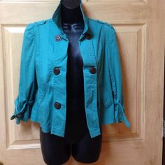 Super cute button down jacket Size medium American Rag Jackets & Coats Jean Jackets