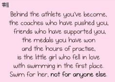 Replace swimming with Water polo Swimming World, Swimming Memes, I Love Swimming, Swimming Diving, Swimming Tips, Swim Team Quotes, Swimmer Quotes, Athlete Quotes, Michael Phelps