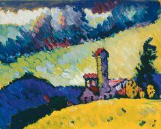 "Wassily Kandinsky, ""Große Studie zum Wandbild für Erwin R. Campbell"" (1914)"