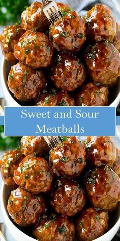 Sweet and Sour Meatballs Sweet and Sour Meatballs Meat Recipes, Asian Recipes, Appetizer Recipes, Crockpot Recipes, Chicken Recipes, Cooking Recipes, Healthy Recipes, Meatball Recipes, Appetizers