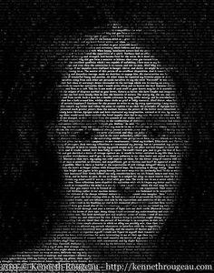 Mary Shelley - tirage d'Art typographique Portrait 11 x par Kenneth Rougeau. Mary Shelley, Frankenstein, Portrait, Vintage, Art, Letterpress Printing, Headshot Photography, Portrait Paintings, Vintage Comics