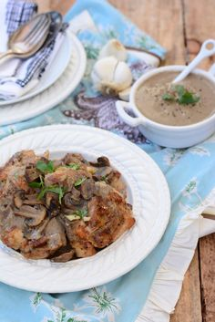 Baked Garlic Mushroom Chicken #paleo #grainfree #glutenfree #chicken