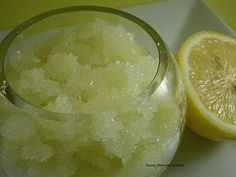lemon scrub.  Love all the homemade beauty treatments on the blog.