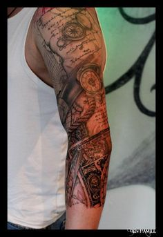 1000 Images About Tattoo Sleeve On Pinterest Leonardo Da Vinci Pen And Ink And Nantes
