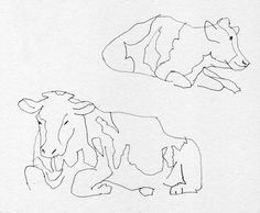 Illustratie: Tekening van Koeien