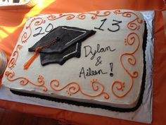 Dylan and my grad cake.