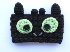 Free Crochet Toothless the Dragon coffee cup cozy pattern by The Enchanted Ladybug