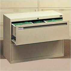 """Lateral File With 2 Drawers and Fixed Drawer Fronts Color: Champagne Putty, Dimensions (W x D x H): 30"""" x 17 15/16"""" x 27 9/16"""", Handles: Long Pull by Tennsco Corp.. $513.14. LPL3024L20 -216 Color: Champagne Putty, Dimensions (W x D x H): 30"""" x 17 15/16"""" x 27 9/16"""", Handles: Long Pull Features: -Two full suspension drawers.-Ball bearing suspensions allow the drawers to glide effortlessly and quietly.-Standard dual-point gang lock with safety interlock system.-Four adjustable ste..."""