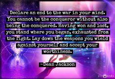 Truce ~ Dean Jackson, lifeinthenow.com
