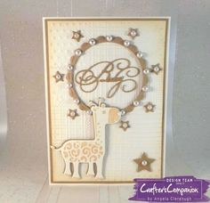 Card made using Sara Signature Little Angel Collection - Designed by Angela Clerehugh #crafterscompanion