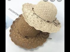 Crochet Hat With Brim, Crochet Summer Hats, Crochet Baby Hat Patterns, Crochet Cap, Crochet Baby Hats, Crochet Scarves, Crochet Hat For Beginners, Sombrero A Crochet, Beautiful Crochet