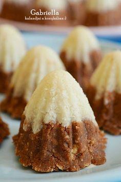 Gabriella kalandjai a konyhában :): Eszkimókunyhók Sweet Desserts, Sweet Recipes, Delicious Desserts, Yummy Food, Bakery Recipes, Dessert Recipes, Cooking Recipes, Hungarian Recipes, Happy Foods