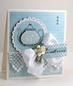 Cuttlebug teapot card