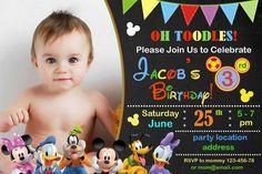 Ratón de Mickey cumpleaños invitación invitación de