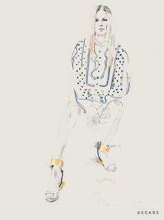 Chloe Resort '14 Blog Post: Barefoot Attitude«Illustration byDecade Diary