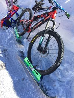 BikeBoards.net wheel ski kits for mtb winter ski biking on any bike! Taking you farther in winter conditions than any bike can go alone!  What's your next adventure?