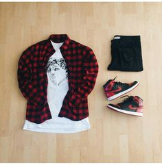 or: by Michael Hartridge : : : 1 'Bred' for on-feet photos for outfit lay down photos Stylish Mens Outfits, Dope Outfits, Casual Outfits, Fashion Outfits, Casual Blazer, Blazer Outfits, Hype Clothing, Mens Clothing Styles, Streetwear Mode