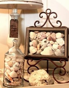 Great ideas for all those shells you find on Sanibel!....hahaha so funny, I just got back from Captiva (Sanibel's sister island)