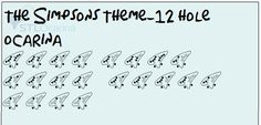 The Simpsons Theme- 12 hole ocarina short by Mickey103.deviantart.com on @deviantART