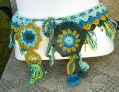 One of a kind Mother Earth Crochet Utility Belt by BaSingSea