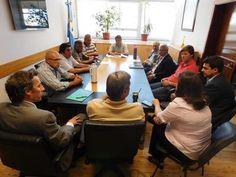 Reunión en el Ministerio de la Producción por los incendios y zonas afectadas