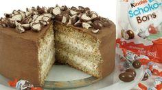 Die Kinder Schoko-Bons-Torte ist eine neue Süßigkeitentortenkreation von mir. Die Kombination aus der süßen Milchmädchencreme mit den luftig leichten Nuss..