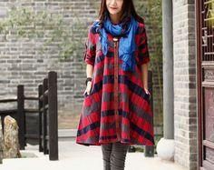 Linen dress Maxi dress Casual loose dress Sundress by Luckywu