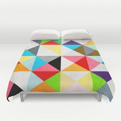 Geometric+Morning+Duvet+Cover+by+Three+Of+The+Possessed+-+$99.00