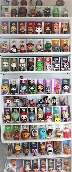 Funko Pop Shelves, Funko Pop Display, Book Shelves, Display Shelves, Style Disney, Pop Disney, Funko Pop List, Disneysea Tokyo, Disney Merch