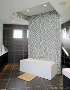How much could heated tiles improve the feel of your bathroom? https://www.housetrends.com/room/bathroom-with-a-modern-twist #housetrends #bathrooms