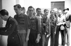 DIVISIÓN AZUL: [Madrid, junio-julio de 1941.- Voluntarios alistándose en la División Azul.- Efe/jt