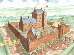Drawing of Dalkeith Castle (the Scotland event will be in Dalkeith)...not sure how accurate this drawing is but who doesn't love a castle with a MOAT?!