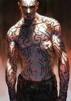 Men in fantasy art Character Concept, Character Art, Concept Art, Tattoo Character, Fantasy Male, Dark Fantasy, Sci Fi Characters, Superhero Characters, Shadowrun