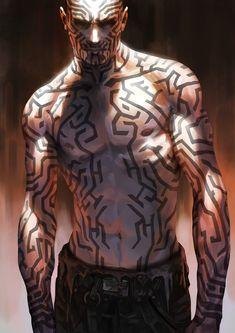 Men in fantasy art Character Design Inspiration, Character Design, Character Art, Cyberpunk Character, Character Inspiration, Character Portraits, Fantasy Art, Art, Shadowrun